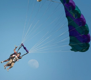 Sunrise Rotary Presidents Celebrate New Year by Skydiving