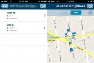 Obama Campaign App to locate Democrats