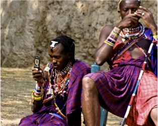 Masai Tribe enjoys communication too