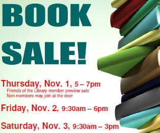 2012 Book Sale Begins November 2nd