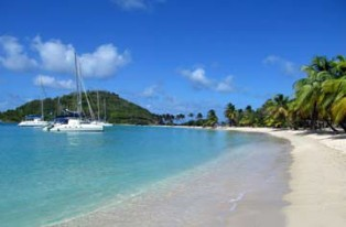 Saltwhistle Beach on Mayreau in the Grenadines
