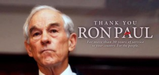 Thank you Ron Paul for your unwavering believe in Liberty