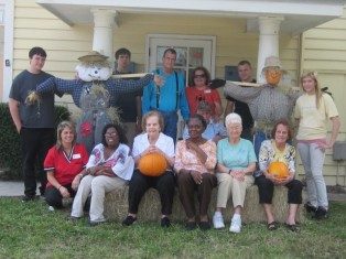 Council on Aging Makes Scarecrows