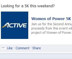 Quick Reminder Women of Power 5 K