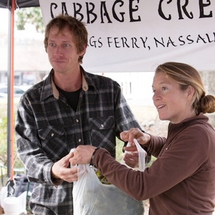 Shrimp, Granola, Chefs and Cabbage Creek Farms