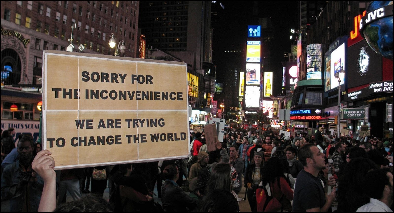 Searchamelia com change the world from times square new york