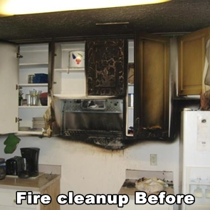 Fire Damage Cleanup Before