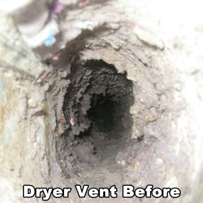 Dirty Dryer Vent Before AdvantaClean