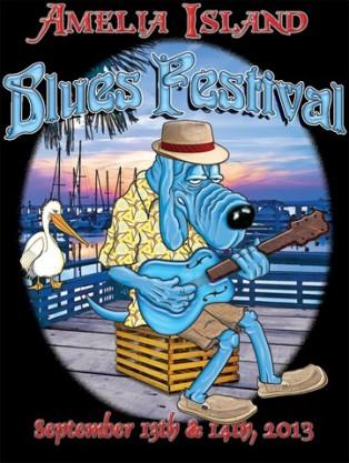 2013 Amelia Island Blues Festival Logo