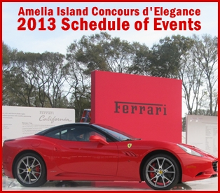 2013 Schedule of the Concours d'Elegance