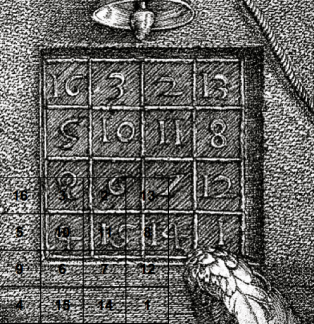 Albrecht Durer's Magic Square counts 34