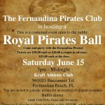 Fernandina Pirates Club Announces the 2013 Royal Ball
