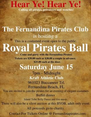 Fernandina Pirates Club Announces the 2013 Royal Ball
