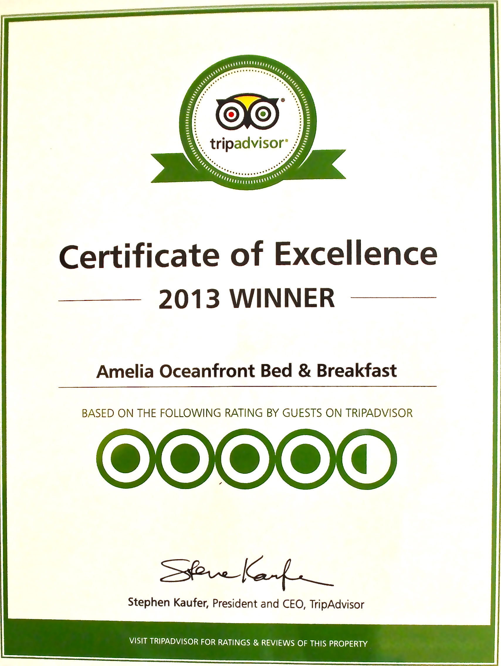 Tripadvisors Certificate Of Excellence And The Empty Restaurant