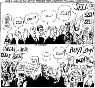 The Market Madness in its Comic Reality