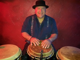 El Nino Garcia [provides Latin Rhythms at the AI Jazz Festival