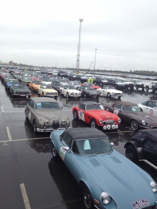 160 Classic Cars waiting to go onboard