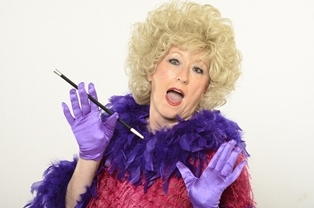 Crystal as Phyllis Diller