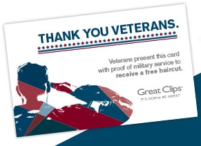 Veterans Get FREE Haircut at Great Clips
