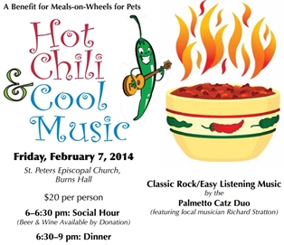 5th Annual Chili Dinner for Meals on Wheels for Pets