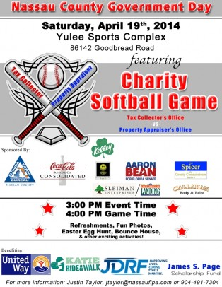 Property Appraiser and Tax Collector to Host Charity Softball Game