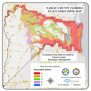 Nassau County Florida evacuation zones