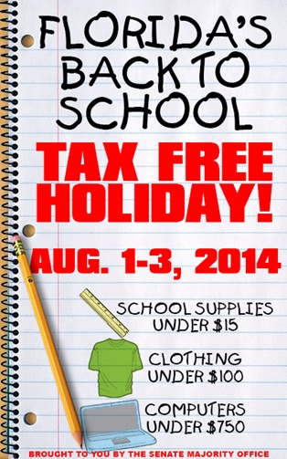 Tax Free Holiday 2014