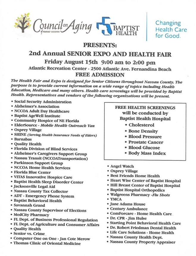 Second Annual Senior Expo and Health Fair