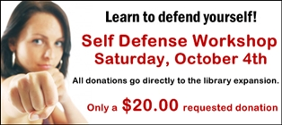 Self Defense Workshop Supports Library Expansion