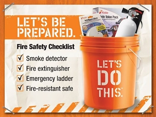 Home Depot Hosts Fire Safety Month 2014