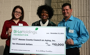 Council on Aging Receives 10K Grant from Bi-Lo Holdings