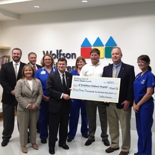 Rotary Donates Defibrillators to Wolfson Children's Hospital