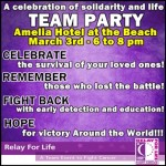 2015 Final Fernandina Relay for Life Team Party