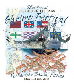 2015 Isle of Eight Flags Shrimp Festival T-Shirt Design Announced