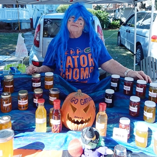 Georgia, Florida and Halloween Celebrated at Farmers Market in Fernandina