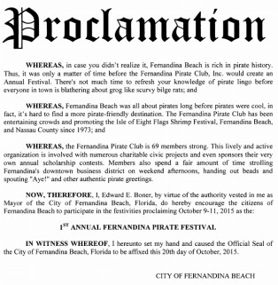 Pirates to Receive City Proclamation at October 20, 2015 Meeting