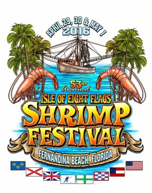 Who Designed the 2016 Shrimp Festival T-Shirt?