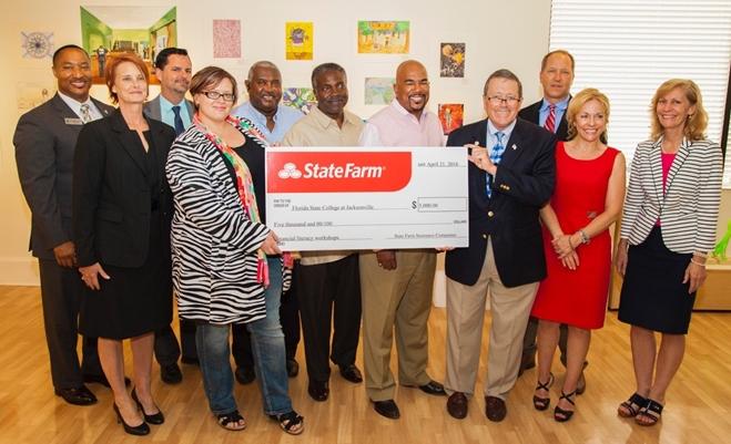 State Farm Check Presentation to FSCJ
