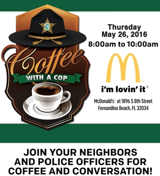 Enjoy Coffee with a Cop at Fernandina's McDonald's