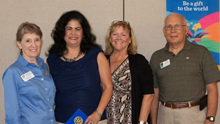 The Rotary Club of Amelia Island Sunrise recently welcomed four new members.