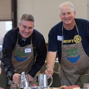 Rotarians Jim Weaver and Dan Westra