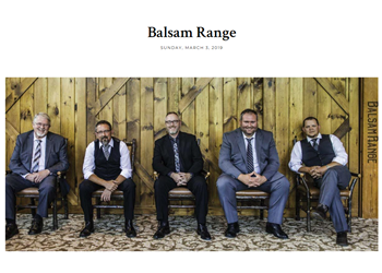 Balsam Range Bluegrass picture to play Amelia Island