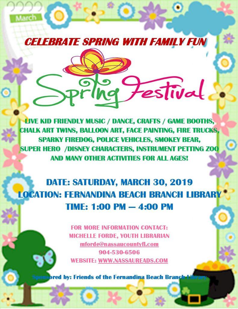 FREE Family Spring Festival @ Fernandina Library