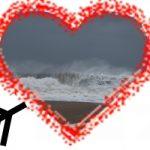 heart and ocean